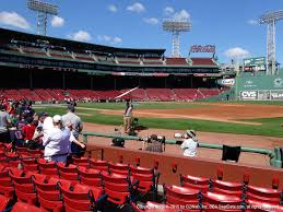 Fenway Park Football Seating Chart Fenway Park View From Field Box 17 Vivid Seats
