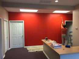 industrial office decor. Industrial Office Project For State Farm Insurance. Real Red Color:-) Decor I