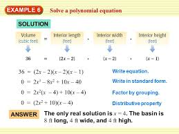 18 solve a polynomial equation