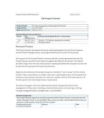 Word Project Project Management Project Charter Template Project Charter