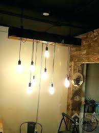 wooden beam chandelier