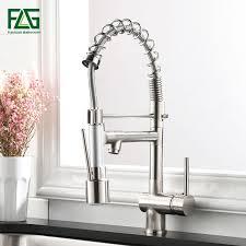 <b>FLG Kitchen Faucet</b> Pull Down Swivel <b>360</b> Hot &Cold Brass Water ...