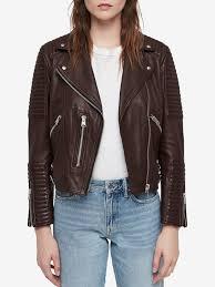 bordeaux red las allsaints estella leather biker jacket long sleeve allsaints long sleeve biker aviator jackets bordeaux red las las