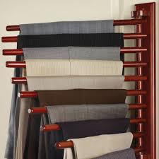 best the closet organizing trouser rack hammacher schlemmer xp62