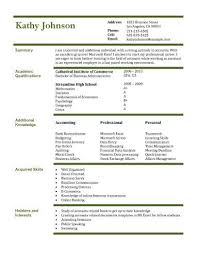 Resumes Examples For Students