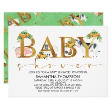 how to word a baby shower invitation farm animals word baby shower invitation