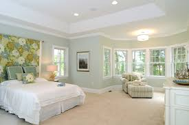 traditional bedroom ideas green. Traditional Bedroom Design Ideas With Gray Wall Striped Armchair Ottoman Green
