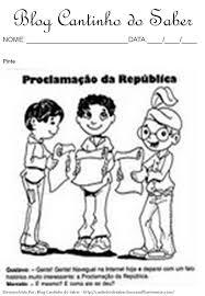 Resultado de imagem para proclamação da república para colorir