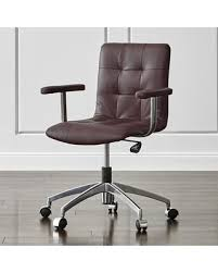 crate and barrel office furniture. Crate\u0026Barrel - Navigator Saddle Brown Leather Office Chair, Chairs Crate And Barrel Furniture .