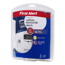 first alert co410 battery powered carbon monoxide alarm with digital display