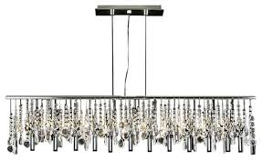 modern contemporary broadway linear crystal chandelier lamp