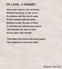 love sonnet poems