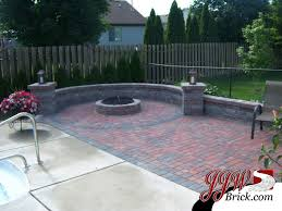 Small Picture Brick Patio Design with Fire Pit and Seating Walls firepit