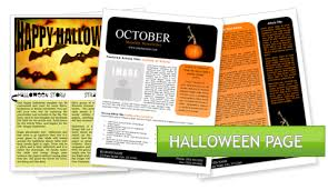 Word Halloween Templates Microsoft Word Halloween Newsletter Template Worddraw Free Holiday
