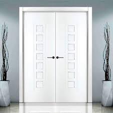 white double door. Sanrafael Lifestyle Panel Double Door - Model 9700R White Painted Image