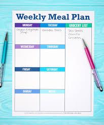 Weekly Meal Plan Worksheet Weekly Meal Plan Printable Planner Template Happiness Is