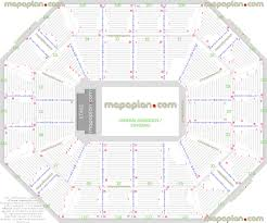 Mohegan Sun Arena Seating Chart With Rows Consol Seating
