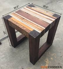 DIY Scrap Wood Side Table Dimensions - Rogue Engineer