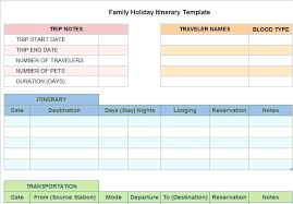 Free Travel Planner Trip Planner Templates Free Travel Itinerary Template