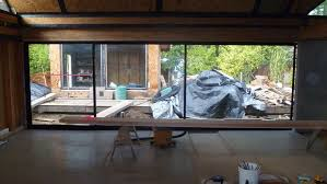 our 24 ft sliding glass door in the closed position note there are only two