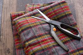 flannel and scissors