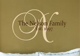 Small Picture Personalized Family Name Sign Name Wall Decal Family Wall