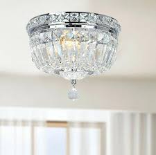 mia faceted crystal flush mount ceiling fixture chandelier modern dining room interior lights design with lighting crystal flush mount