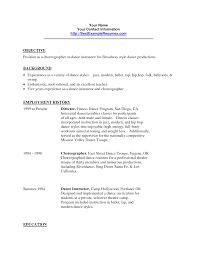 Dance Teacher Resume Berathen Com