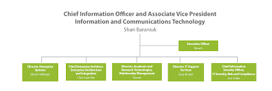 Ca Technologies Org Chart Organizational Structure Office Of The Cio University Of