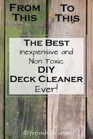 eco friendly diy deck. The Best Inexpensive Non Toxic DIY Deck Cleaner | Cleaner, Decking And  Organizing Eco Friendly Diy Deck I