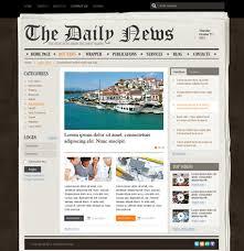 Website Template Newspaper Newspaper V2 5 Web Template