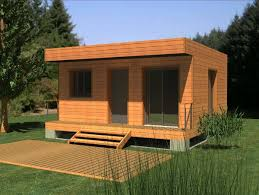 maison bois en kit toit plat design garage unique