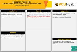 Poster Templet Vcu Health Research Poster Templates Makesigns