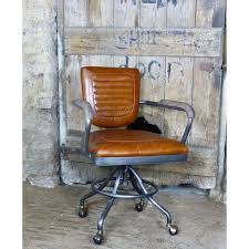 Vintage industrial metal office chair metal Leather Vintage Metal Office Chair Executive Fice Desk Chair Tan Leather Retro Industrial Vintage Bijuteri Catalog Vintage Metal Office Chair Executive Fice Desk Chair Tan Leather