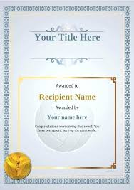 volleyball certificate template volleyball award certificate template templates word certificates