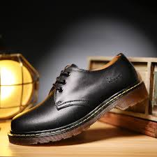 men shoes genuine leather low top men winter leather doc martens shoes ankle botas dr martins autumn casual couple mens casual shoes designer shoes from