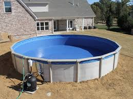 Above ground swimming pool Outdoor Above Ground Swimming Pools Installation Go For The Pros Smith Pools Spas Smith Pools Spas Above Ground Swimming Pools Installation Go
