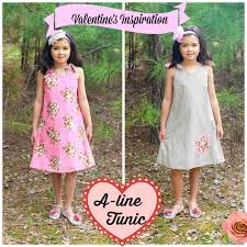 A Line Dress Pattern Best ALine Tunic Dress Pattern For Girls Whimsy Couture Sewing