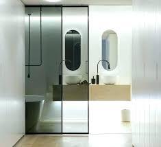 barn door for bathroom lock sliding door for bathroom luxury sliding door bathroom in dark glass