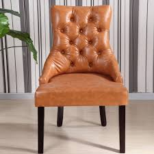 tufted back dining chair. These Parson Dining Chairs Highlight A Button Tufted And Copper Nailhead Design That Works Well With Wide Range Of Styles. Back Chair