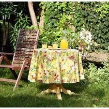 60 in round waverly lexie indoor outdoor tablecloth