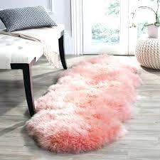 pink sheepskin rugs soft faux