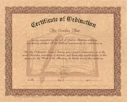 blank ordination certificates certificate of ordination