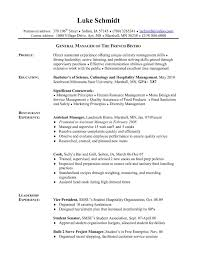 Executive Chef Resume Objective Unique Chefs Resume Template Free