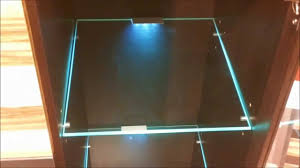 glass shelf lighting. LED Lights Edge Lit Glass Cabinet Shelf Backlighting / How To Install Blau Schrank Regal - YouTube Lighting 2
