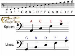how to read bass sheet music music notes in the bass clef magic tune pinterest clef music
