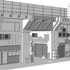 高架下の商店街 Clip Studio Assets