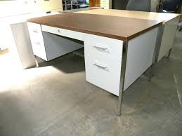 white walnut office furniture. Office Desk Walnut Metal With Double Pedestals And Laminate Used . White Furniture D
