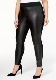 i n c plus size faux leather front skinny pants created for macy s