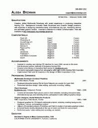 Sample Resume Skills Section Example Resumes Cover Letter With